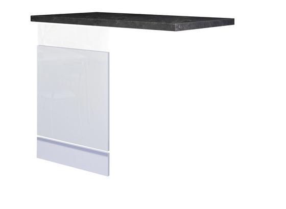 Geschirrspülerblende Alba  Gsp-Paket Ti 60 - Schieferfarben/Weiß, MODERN, Holzwerkstoff (60cm)