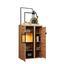 Vitrine Nyon - Eichefarben/Schwarz, MODERN, Glas/Holzwerkstoff (89/138,1/40,5cm)