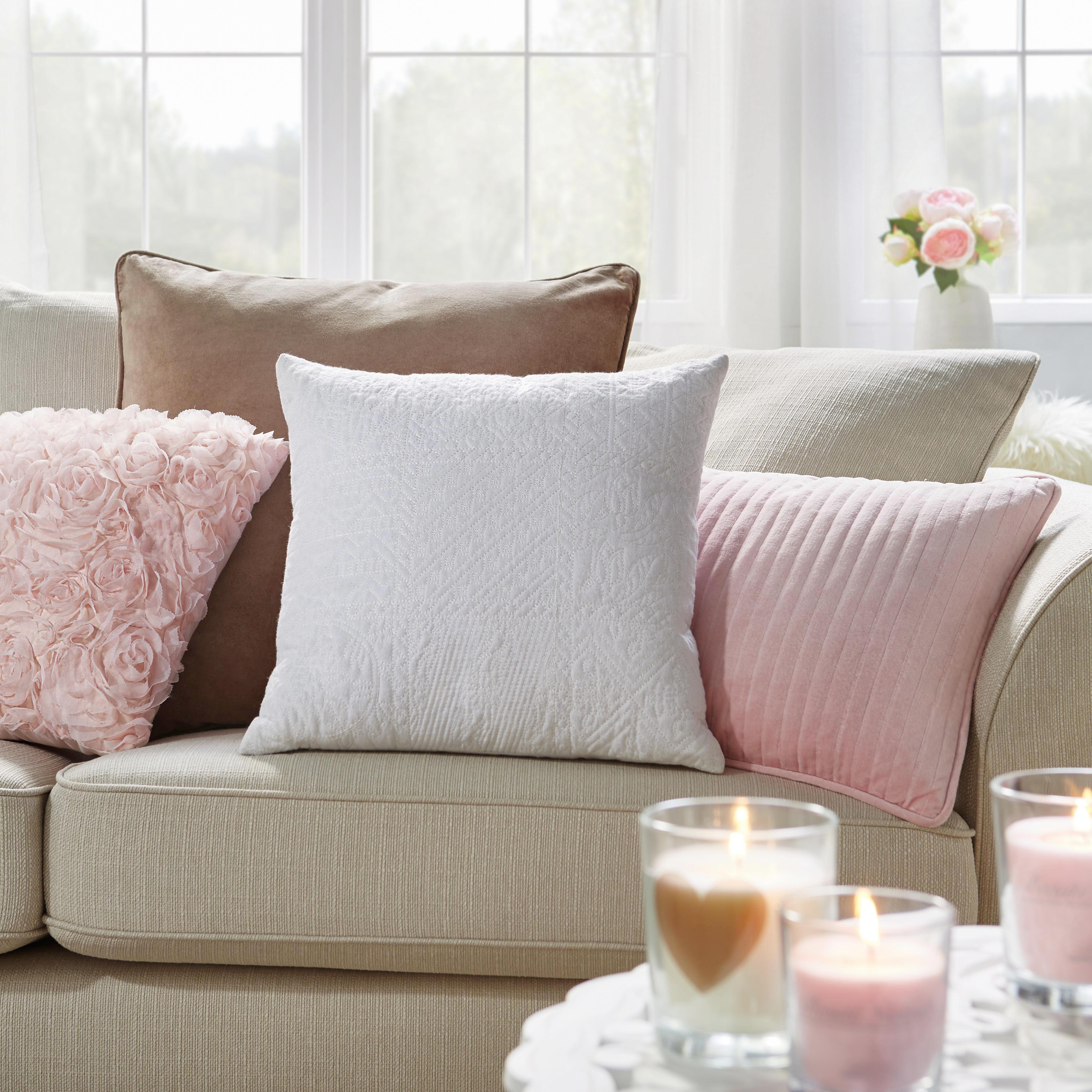 Polštář Ozdobný Rosalinde - růžová, Romantický / Rustikální, textil (40/40cm) - MÖMAX modern living