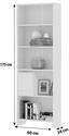 Regál Bart   *cenový Trhák* - biela, Moderný, drevo (60/175/24cm)