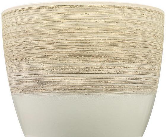 Kaspó Vanilla Cream - krém, kerámia (19/18/19cm)