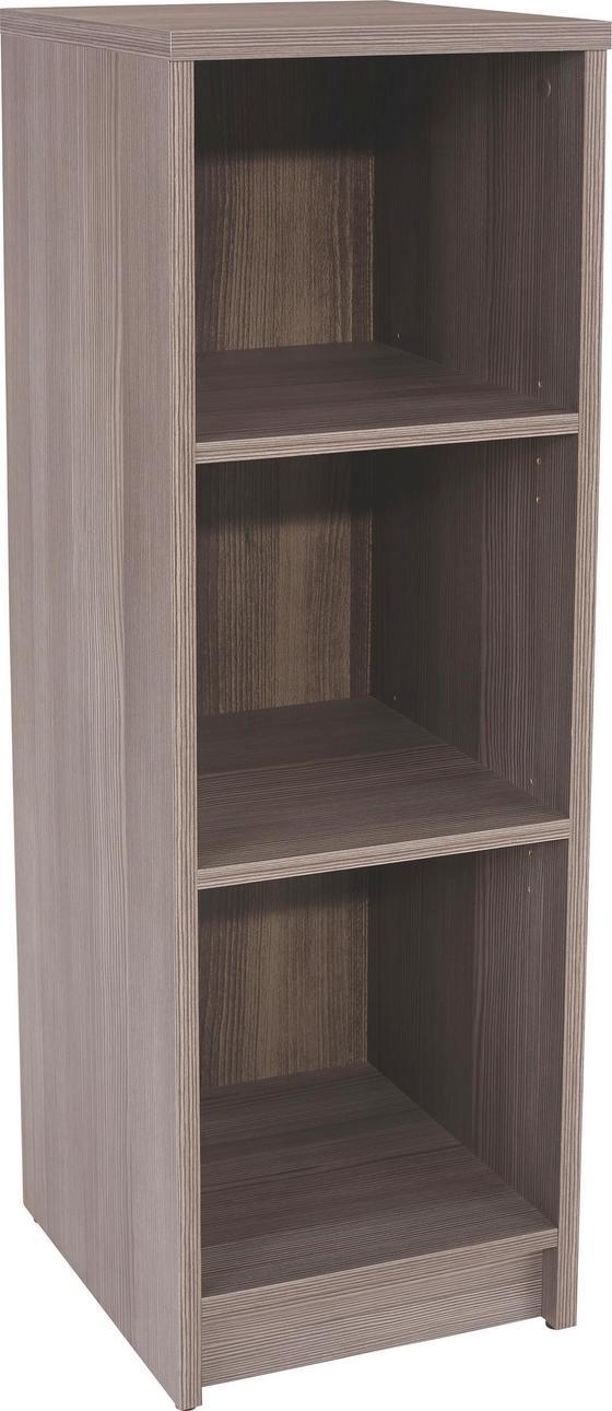 Regál 4-you Yur05 - tmavě hnědá, Moderní, dřevěný materiál (30/111,4/34,6cm)