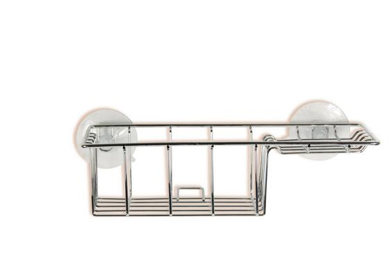 Sprchový Regál Milano 5 B991739 - barvy stříbra, Konvenční, kov (27/13/7,5cm) - OMBRA