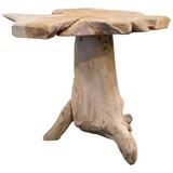 Beistelltisch Unikat Teak Holz Ø 45cm - Naturfarben, MODERN, Holz (45/40cm)