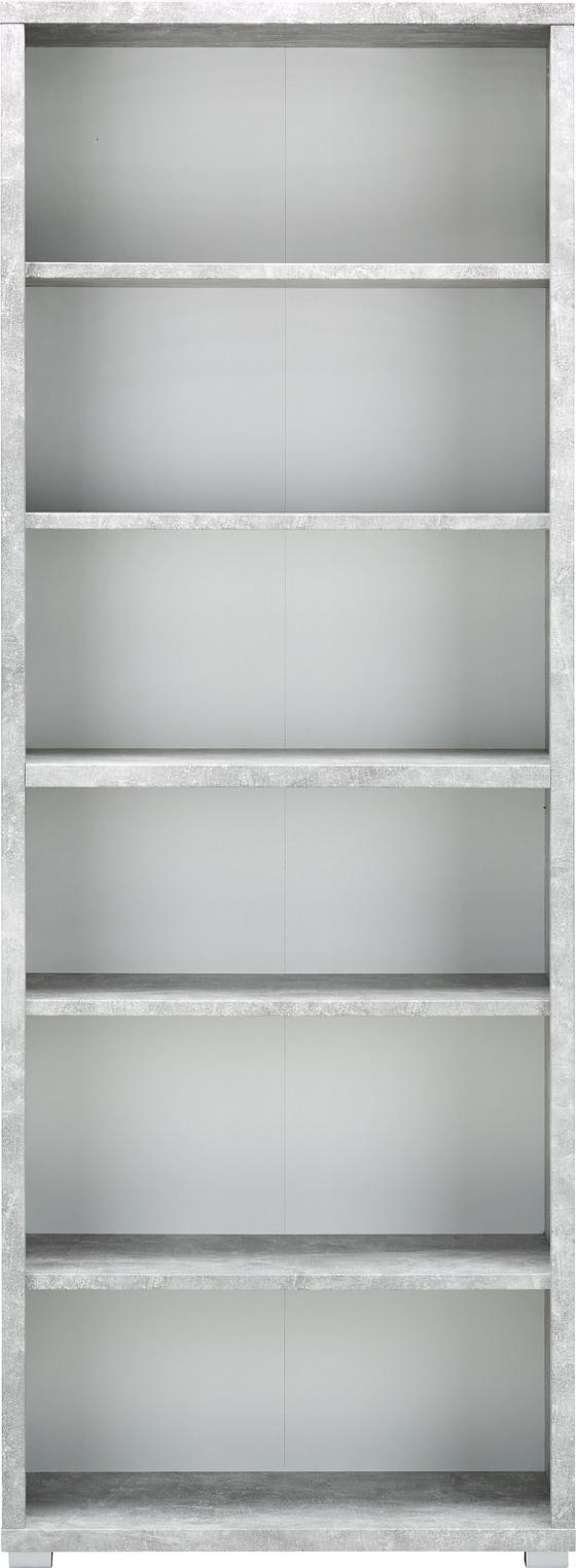 Regál Line4 - bílá/šedá, Moderní, kompozitní dřevo (80/218/36cm)