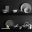 Talíř Shiva - bílá/černá, Lifestyle, keramika (20/11/2,5cm) - Mömax modern living