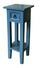 Beistelltisch Mahagoni Blau lackiert - Blau, MODERN, Holz (25/67/25cm)