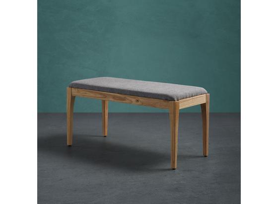 Lavica Jarry - sivá, Moderný, drevo/textil (92/46/39cm) - Mömax modern living