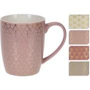 Kaffeebecher Juliette - Goldfarben/Altrosa, KONVENTIONELL, Keramik (0,34l)