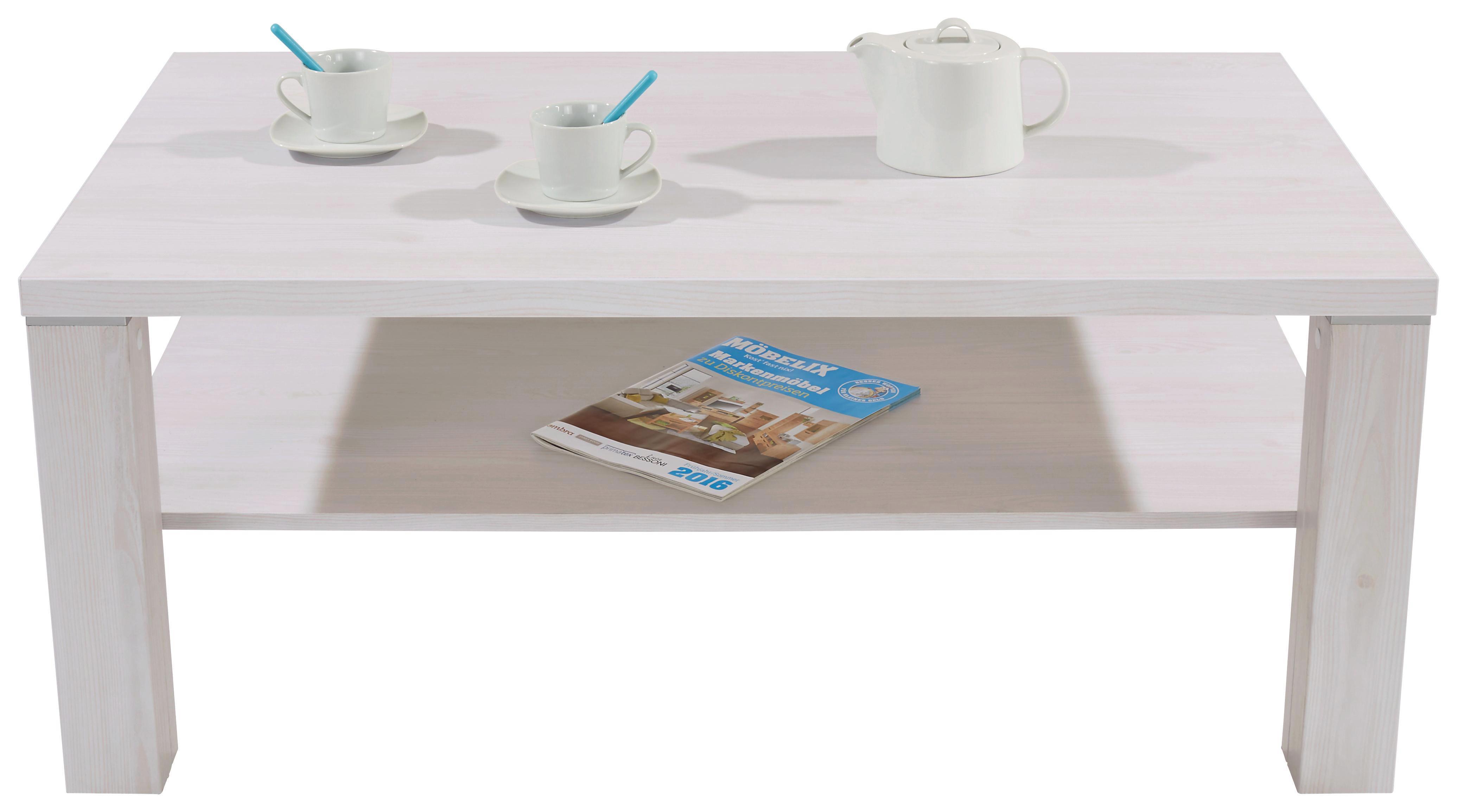 Dohányzóasztal Coffee - vörösfenyő szín, modern, faanyagok (110/45/67cm)