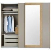 Skříň S Posuvnými Dveřmi Kufstein 226 Cm - fango/barvy dubu, Konvenční, kompozitní dřevo (226/210/62cm) - Modern Living