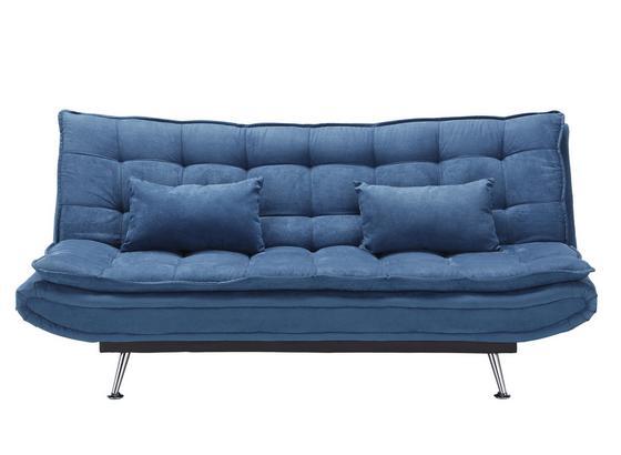 Mega Pohovka Cloud - tmavě modrá, kov/dřevo (196/92/98cm) - Mömax modern living