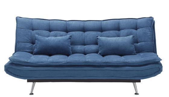 Rozkládací Pohovka Cloud - tmavě modrá, kov/dřevo (196/92/98cm) - Mömax modern living