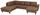 Wohnlandschaft in U-Form Cherno 237x313x167 cm - Wengefarben/Braun, MODERN, Textil (237/313/167cm)