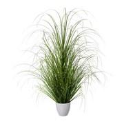 Kunstpflanze Grasbündel H: 90 cm Grün - Weiß/Grün, Trend, Kunststoff (90 cmcm) - MID.YOU