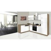 Eckküche Economy L 280cm Eiche/Weiß - Eichefarben/Weiß, Basics, Glas/Holzwerkstoff (172/280cm) - Livetastic