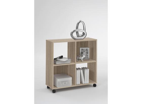 Regál Sprint - barvy dubu, Moderní, kompozitní dřevo/umělá hmota (72/78/33cm)