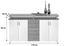 Komoda Sideboard Lift - farby dubu/biela, Moderný, kompozitné drevo (178/90/38cm)