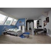 Bett Cariba 140x200 cm - Graphitfarben/Weiß, Design, Holzwerkstoff (140/200cm) - Carryhome