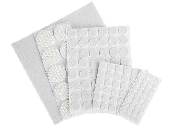 Filzgleiter 131  teilig - Weiß, KONVENTIONELL, Kunststoff/Textil
