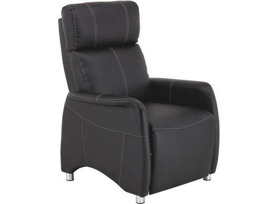Tv-fotel Spirit - Fekete, modern, Fa/Fém (78/113,5/90cm) - Luca Bessoni