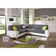 Wohnlandschaft Miami - Alufarben/Weiß, MODERN, Holz/Kunststoff (210/260cm)