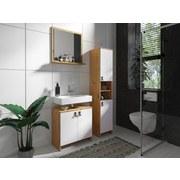 Badezimmerspiegel New Port B: 60 cm Eichefarben - Eichefarben, MODERN, Glas/Holzwerkstoff (60/60/14cm) - Livetastic