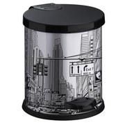 Treteimer City - Silberfarben/Schwarz, Basics, Kunststoff/Metall (19,5/21,5cm)