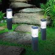 LED-Solarleuchte 3er Pack - Schwarz, MODERN, Metall (6,5/52/6,5cm) - Grundig
