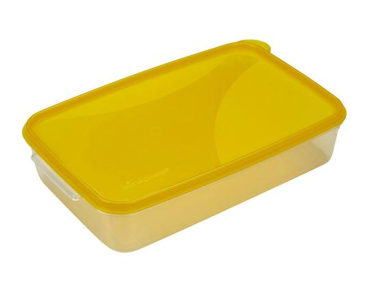 Frissentartó Doboz F30a - sárga/natúr színek, konvencionális, műanyag (28/18/6,5cm)