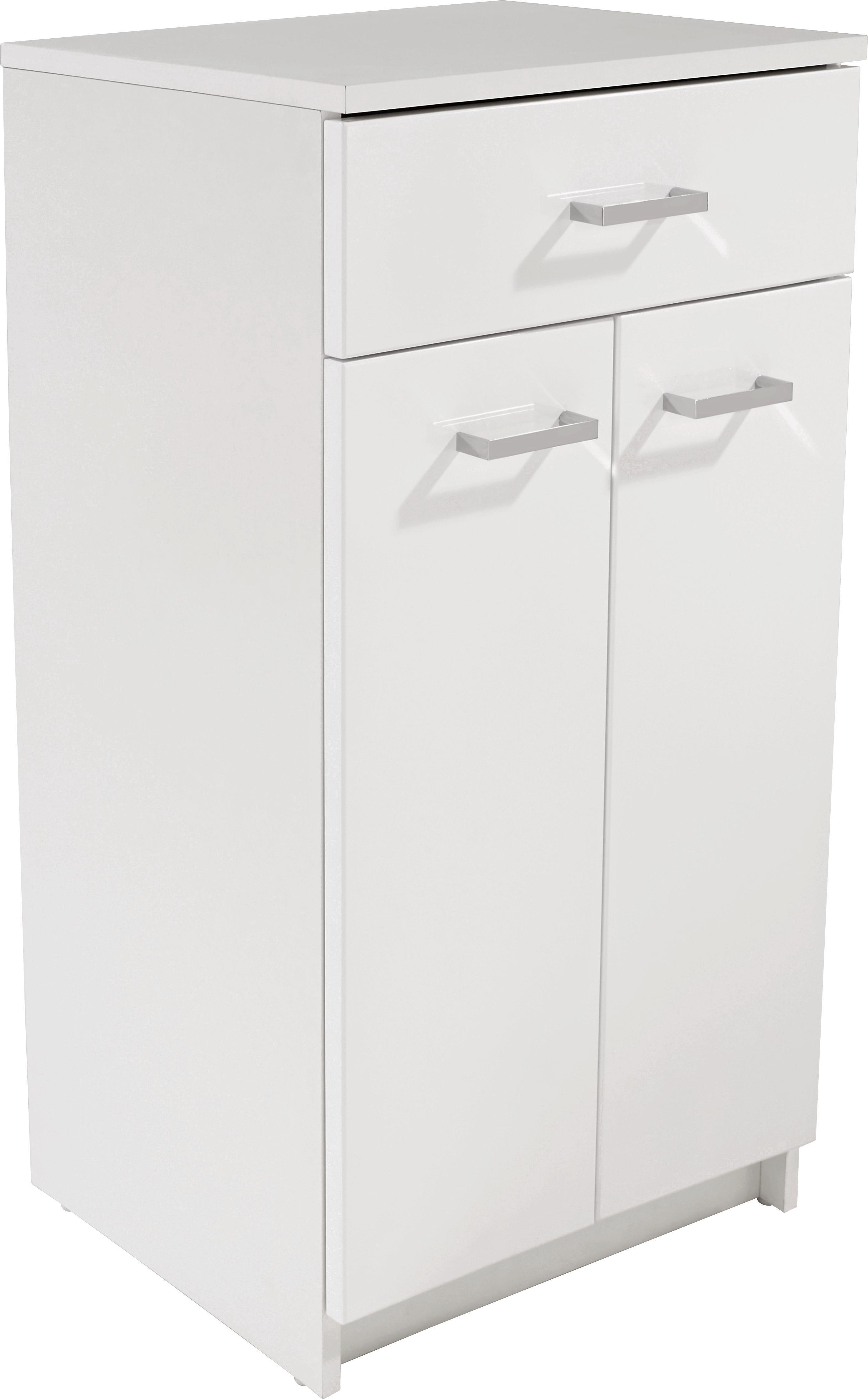 Spodní Skříňka Fiola - bílá, Konvenční, dřevěný materiál (50/84,7/33,5cm)