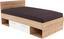 Ágykeret Box - Tölgyfa/Zöld, modern, Faalapú anyag (207/125/86cm)