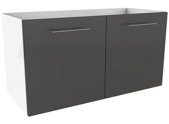 Waschtischunterschrank mit Türdämpfer Lima B: 80cm - Weiß/Grau, MODERN, Holzwerkstoff (80/42/35cm) - Fackelmann