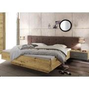 Bettanlage Malta - Taupe/Eichefarben, MODERN, Holzwerkstoff/Textil (180/200cm)