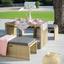 Multifunkčný Záhradný Nábytok Mykonos - hnedá/antracitová, umelá hmota/kov - Modern Living