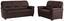 Sitzgarnitur Queenline 3er 198 cm/2er 146 cm - Dunkelbraun/Schwarz, KONVENTIONELL, Holz/Holzwerkstoff (198/96/92cm) - James Wood