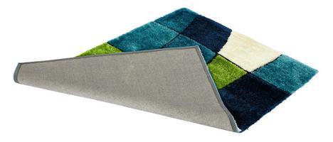 Rechteckiger Teppich mit 25 cm Florhöhe