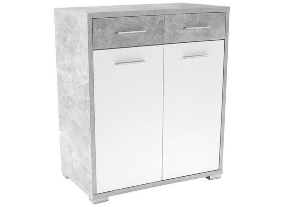 Komoda Q-big New Qbk02 - šedá/bílá, Moderní, dřevo (98/105/44cm)
