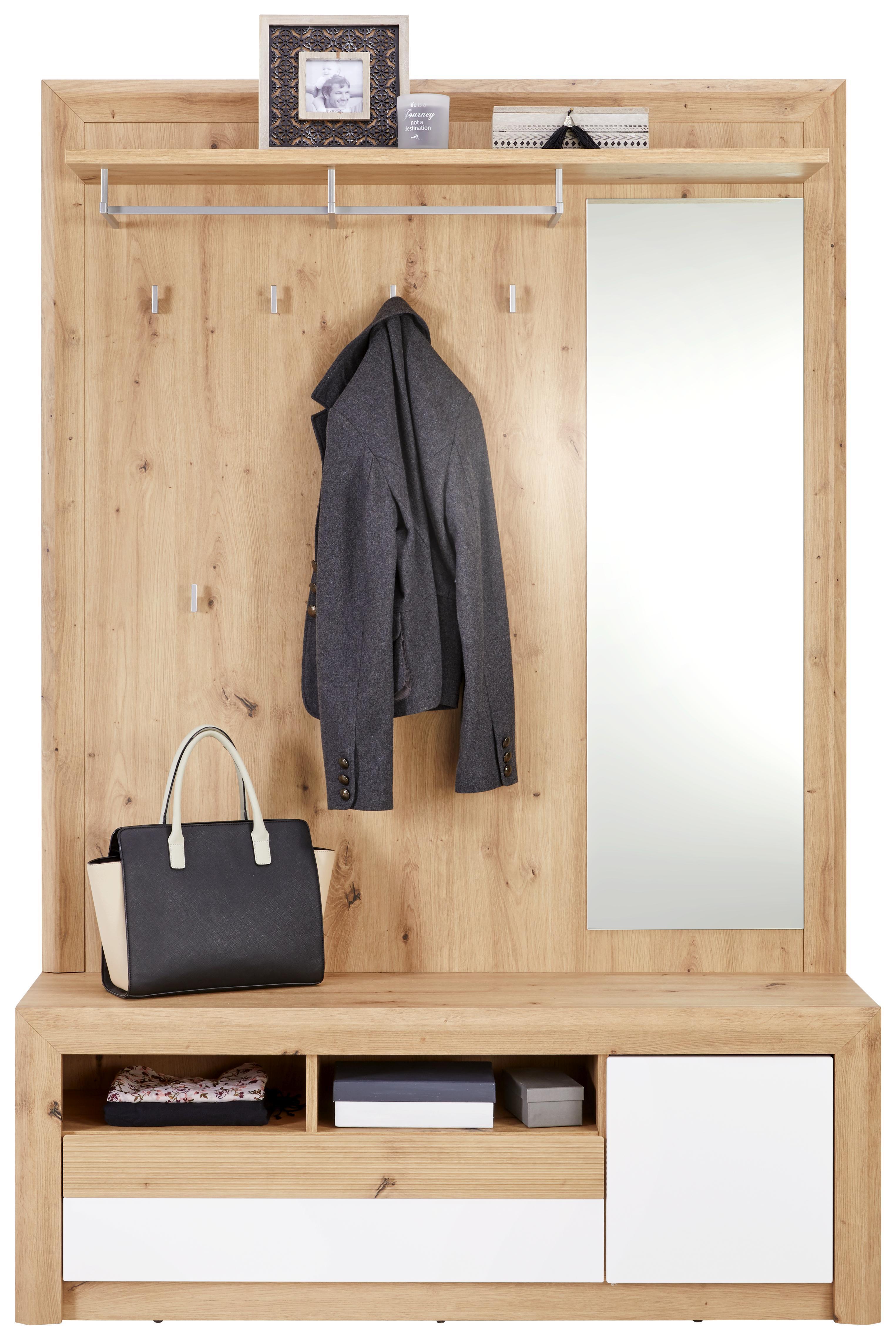 Garderobe NEW KASHMIR Eichefarben und Weiß