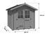 Gartenhaus Blockhaus Natur 200x225x200cm - Naturfarben, MODERN, Holz (200/225/200cm)