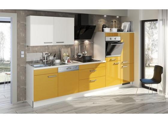 Küchenblock Sigma - Weiß, MODERN, Holzwerkstoff (310cm) - Qcina