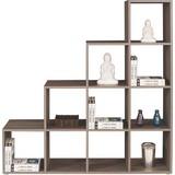 Raumteiler Pisa 4 - Dunkelbraun/Schwarz, MODERN, Holz (149/150/35cm)