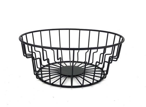 Miska Na Ovoce Cage - černá, Moderní, kov (24/9cm) - Mömax modern living