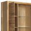 Vitrine Fenja B:98cm Massiv, Wildeiche - Eichefarben, Design, Glas/Holz (98/203/40cm) - Landscape