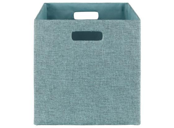 Skládací Krabice Bobby - petrolej, Moderní, papír/umělá hmota (33/33/32cm) - Mömax modern living