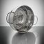 Sada Hrncov Ron, 14-dielna - strieborná/číre, kov/sklo - Premium Living