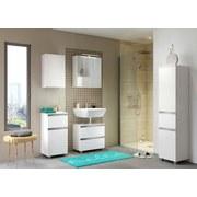 Midischrank mit Soft-Close Arezzo B: 40cm Weiß - Silberfarben/Weiß, Basics, Holzwerkstoff (40/154/35cm) - MID.YOU