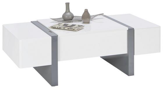 Konferenční Stolek Artemis - bílá/šedá, Moderní, dřevěný materiál (120/40-66/60cm) - Modern Living