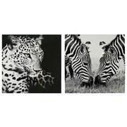 Kunstdruck Sara - Hellbraun/Multicolor, MODERN, Holzwerkstoff/Textil (75/75/2,7cm)