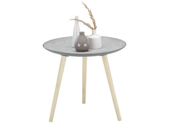 Odkladací Stolík Grey -sb- - prírodné farby/hnedá, drevo/kompozitné drevo (54,5/47,5/54,50cm) - Mömax modern living